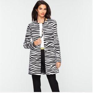 Talbots Zebra Striped Coat